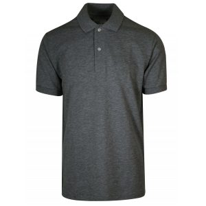 Charcoal Cotton Polo T-Shirt Digital Print