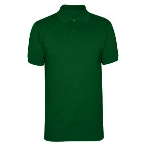 Dark Green Cotton Polo T-Shirt 1 Color Printing