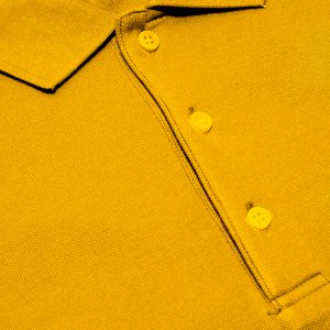 Golden Yellow Cotton Polo T-Shirt 1 Color Printing