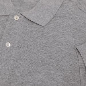 Grey Cotton Polo T-Shirt 2 Colors Printing