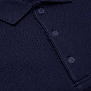 Navy Blue Cotton Polo T-Shirt 1 Color Printing