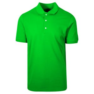 Parrot Green Polyester Polo T-Shirt 1 Color Printing
