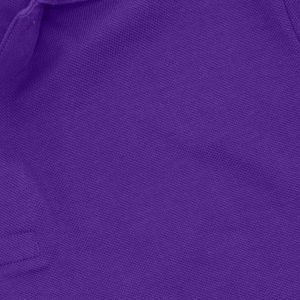 Purple Polyester Polo T-Shirt 1 Color Printing