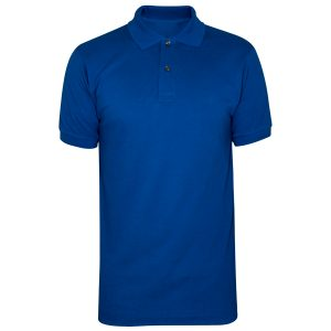 Royal Blue Polyester Polo T-Shirt 1 Color Printing