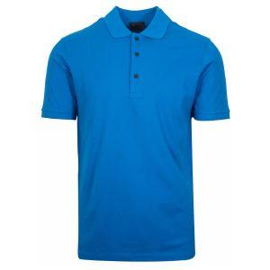 Tea Blue Polyester Polo T-Shirt 2 Colors Printing