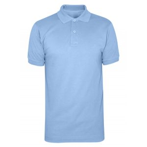 Sky Blue Cotton Polo T-Shirt 1 Color Printing