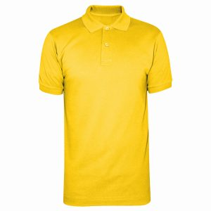 Yellow Polyester Polo T-Shirt 4 Colors Printing