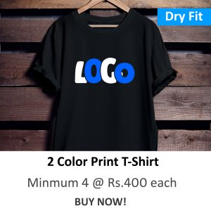 Dry Fit Round Neck Polyester T-Shirt (2 Color Print)