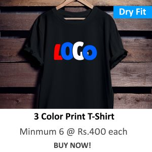 Dry Fit Round Neck Polyester T-Shirt (3 Color Print)