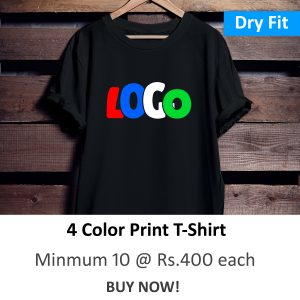 Dry Fit Round Neck Polyester T-Shirt (4 Color Print)